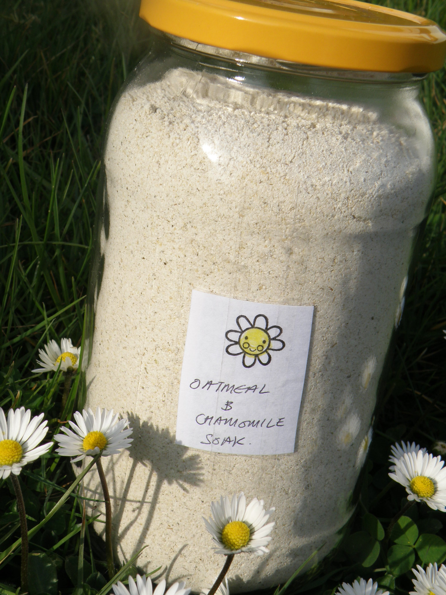 Colloidal Oatmeal Bath Soak With Chamomile I Bake Without